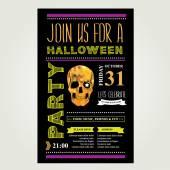 Invitation Halloween. — Stock Vector