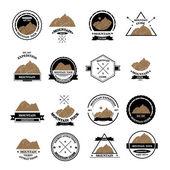 Set of expedition badges — Wektor stockowy