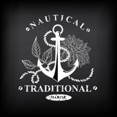 Nautical marine, badge design. — Wektor stockowy