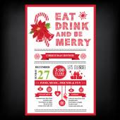Christmas restaurant and party menu, invitation. — Stock Vector
