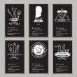 Постер, плакат: Visiting cards design barbershop