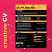 Resume template. — Stock Vector