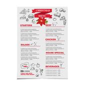 Christmas restaurant  menu — Stock Vector