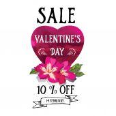 Valentine's Day sale — Vector de stock