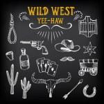 Wild west design sketch. — Stock Vector #70296689