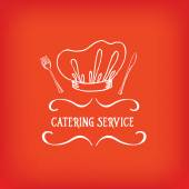 Catering service, design logo. — Stock Vector