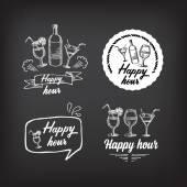 Happy hour party invitation. — Stock Vector