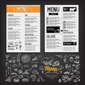 Food menu, restaurant template design — Stock Vector