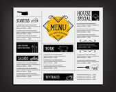 Restaurant cafe menu, template design — ストックベクタ