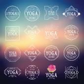 Yoga logo icons — Stock Vector