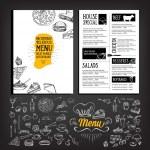 Restaurant cafe menu, template design — Stock Vector #73020023