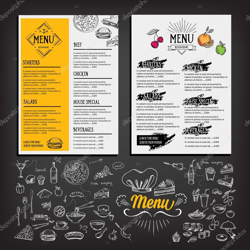 cafe templates ] | cafe menu template pack for photoshop illustrator ...