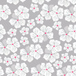 Seamless floral pattern with tropical flowers — Stock Vector #75508393