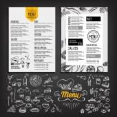 Restaurant menu template design — Stock Vector