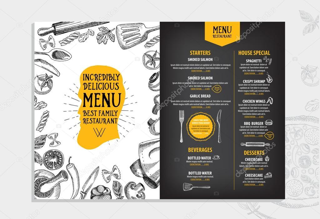 download free restaurant menu templates
