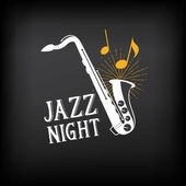 Jazz music party logo — Stock Vector