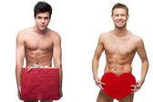 两个有趣的裸男在 — 图库照片