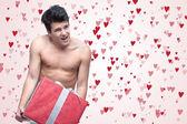 Funny naked man — Stockfoto