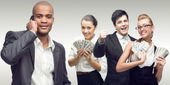 Team of young successful business people — Stock Photo