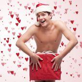 Funny naked man — Stock Photo