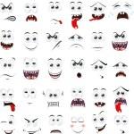 Cartoon faces — Stock Vector #52880171