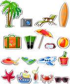 Travel cartoon icons — Cтоковый вектор