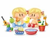 Bebês e acessórios — Vetor de Stock