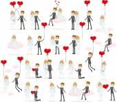 Bride and groom — Stockvector