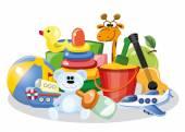 Children's accessories — Stock Vector