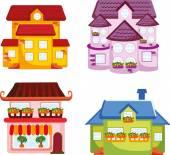 Cartoon huizen — Stockvector