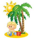 Baby boy on holiday — Stock Vector