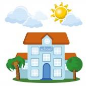 Karikaturní domu — Stock vektor