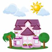Roztomilý domeček — Stock vektor