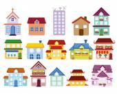 Roztomilý domy — Stock vektor