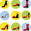 Icons of different shoes — Stock Vector #54908073