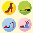 Icons of different shoes — Stock Vector #54908583