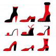 Icons of different shoes — Stock Vector #54908585