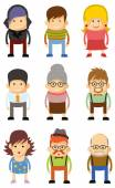 Set of cute avatar icons — Stock Vector