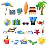 Travel cartoon icons — Stock Vector