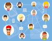 人々 コミュニケーション — ストックベクタ