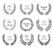 Laurel floral wreaths — Vector de stock