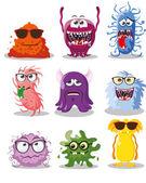 Cartoon cute monsters — Stock Vector
