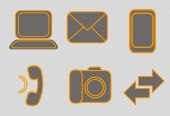 Set of web icons — Stock Vector