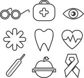 Health icons for design — Vecteur