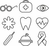 Health icons for design — Stockvektor