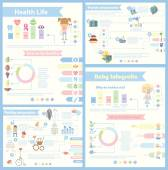Set of different Infographics — Stock Vector