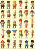 Characters avatar icons — Stock Vector