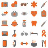 Medical and health icons — Stock Vector