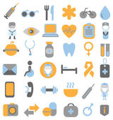 Medische en gezondheidsdiensten icons set — Stockvector