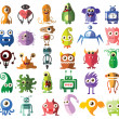 Cute monsters and robots — Stock Vector #73927689